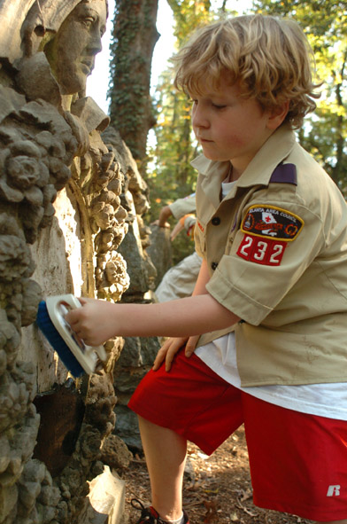 Boy Scout at Harmony Grove