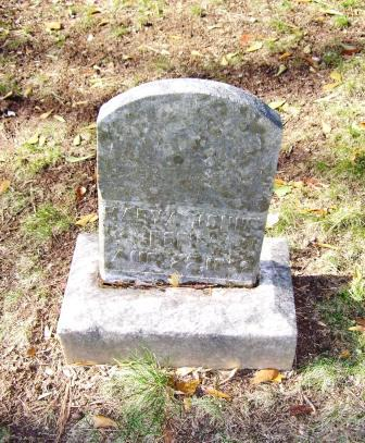 Mary Johns's Headstone, Before